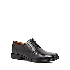 Clarks - Black leather 'Huckley Spring' lace up shoes