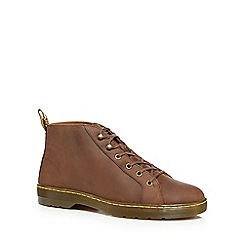 Dr Martens - Brown leather 'Coburg' lace up boots