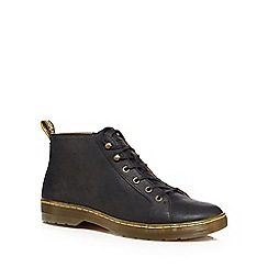 Dr Martens - Black leather 'Coburg' lace up boots