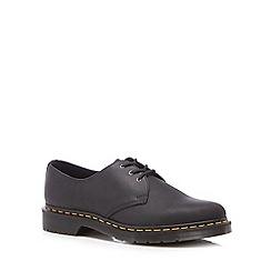 Dr Martens - Black leather '1461' lace up shoes
