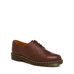 Dr Martens - Brown leather '1461' lace up shoes