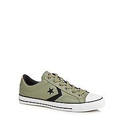 Converse - Green 'Star Player' lace up trainers