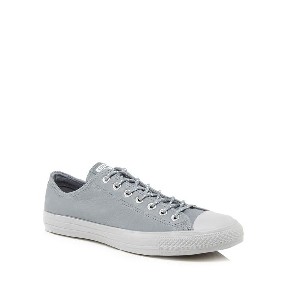 'Chuck All leather trainers Taylor Star' Converse Grey 7fORnE6