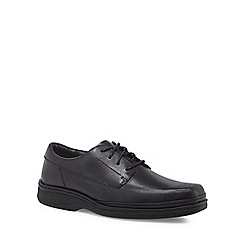 Clarks - Black leather 'Stonehill Pace' lace up shoes