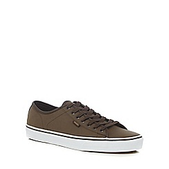 Vans - Brown leather 'Ferris' lace up trainers