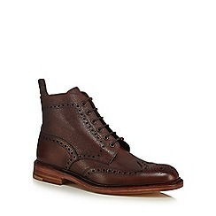 Loake - Brown leather 'Cogswell' lace up brogue boots