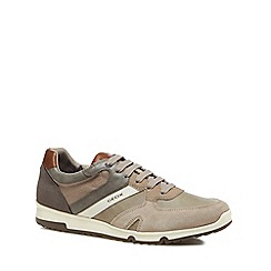 Geox - Beige 'Wilmer' mixed material trainers