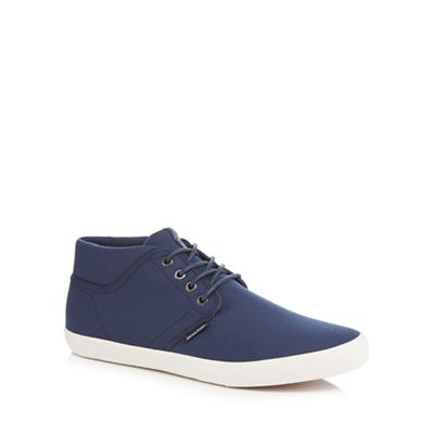 clearance for sale online Shop Navy canvas 'Vince' high top trainers best store to get online for nice online comfortable sale online UqjaRC
