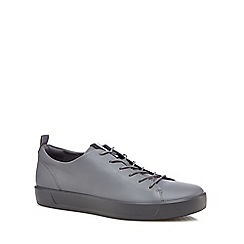 ECCO - Grey leather 'Soft 8' trainers