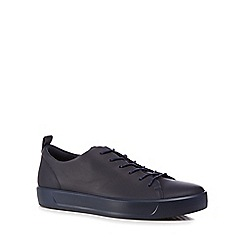 ECCO - Navy leather 'Soft 8' trainers