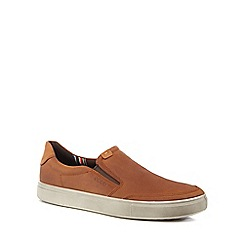 ECCO - Tan leather 'Kyle' slip-on shoes