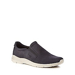 ECCO - Tan leather 'Irving' slip-on trainers