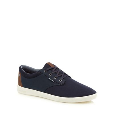 Jack canvas & Jones - Navy canvas Jack 'Gaston' trainers 421648