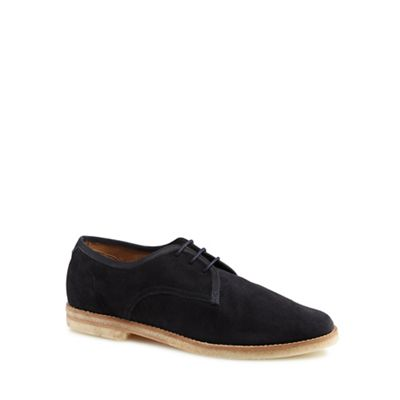 H By Hudson - Navy suede 'Agadir' Derby shoes