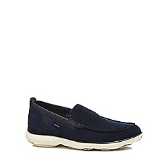 Geox - Navy 'Nebula' suede slip-on shoes