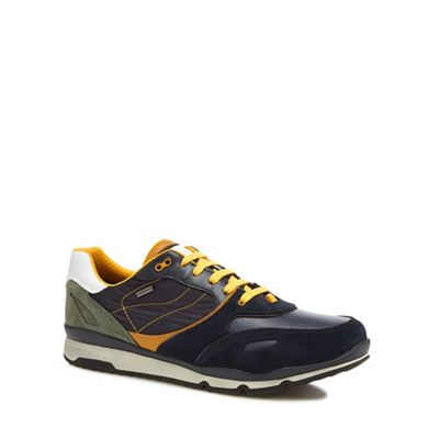 Geox - Navy 'Sandford' lace-up trainers