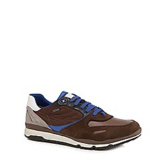 Geox - Brown 'Sandford' lace up trainers