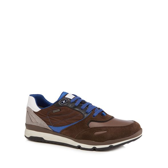 Brown Geox up 'Sandford' lace trainers AgqURYqw