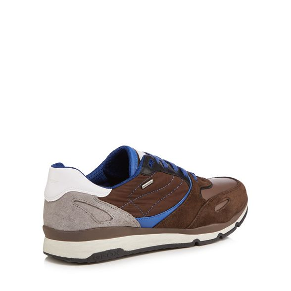 lace Geox trainers 'Sandford' Brown up OqOwxHSf