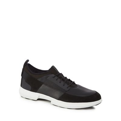 Geox - Black 'Traccia' lace-up trainers