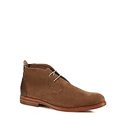 H By Hudson - Tan suede 'Matteo' desert boots