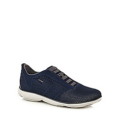 Geox - Blue 'Nebula Knitted' slip on trainers