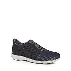 Geox - Dark grey 'Nebula Knitted' slip on trainers