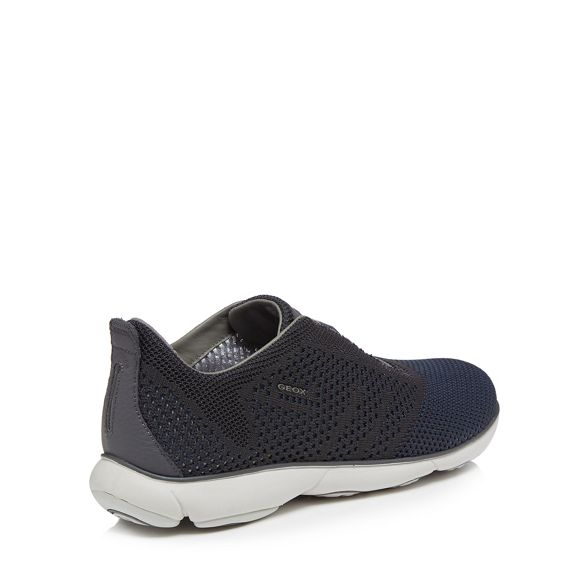 Knitted' slip trainers 'Nebula Dark Geox on grey qRIxfctwz