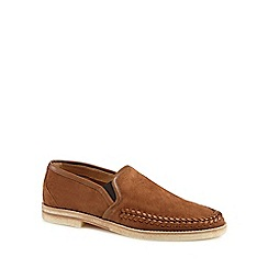 H By Hudson - Tan suede 'Tangier' slip-on shoes