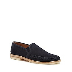 H By Hudson - Navy suede 'Tangier' slip-on shoes