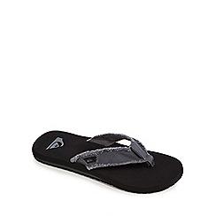 Quiksilver - Grey 'Monkey Abyss' flip flops