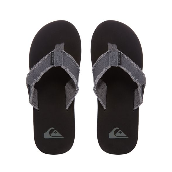 'Monkey Quiksilver Abyss' Grey flip flops px1qvwPx5