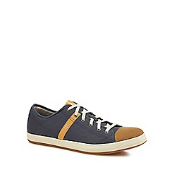Caterpillar - Navy canvas 'Checklist' lace-up trainers