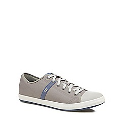 Caterpillar - Grey 'Checklist' canvas lace-up trainers