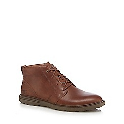 Caterpillar - Brown leather 'Trey' chukka boots