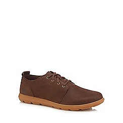 Caterpillar - Chocolate leather 'Arven' lace up shoes