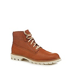 Caterpillar - Tan leather 'Basis' lace up boots