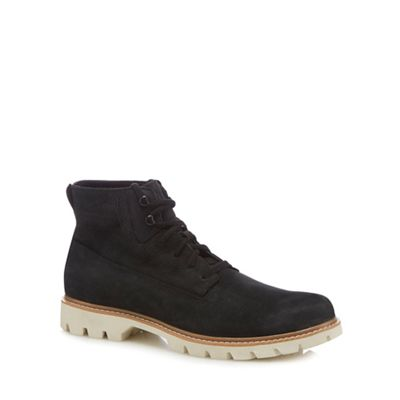Caterpillar - Black leather 'Basis' lace up boots