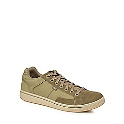 Caterpillar - Khaki canvas 'Cadre' trainers