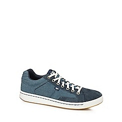 Caterpillar - Navy canvas 'Cadre' trainers