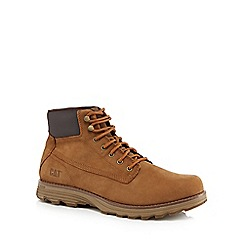 Caterpillar - Brown leather 'Intake' lace up boots