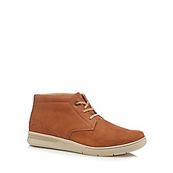 Caterpillar - Tan nubuck 'Theorem' chukka boots