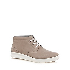 Caterpillar - Grey nubuck 'Theorem' chukka boots