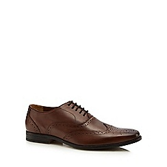 Lotus Since 1759 - Brown leather 'Bishop' Derby shoes