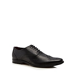 Lotus Since 1759 - Black leather 'Bishop' Derby shoes