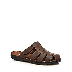 Lotus Since 1759 - Brown leather 'Buchanan' sandals