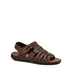Lotus Since 1759 - Brown leather 'Hugh' sandals