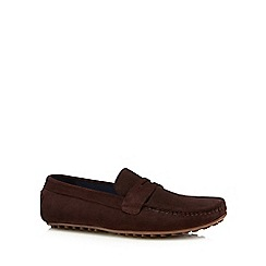 Lotus Since 1759 - Brown suede 'McKinley' loafers