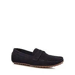 Lotus Since 1759 - Navy suede 'McKinley' loafers