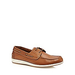 Lotus Since 1759 - Tan leather 'Lawson' boat shoes